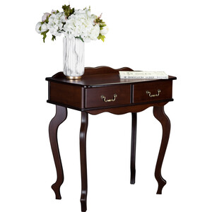 Консоль Мебелик Берже 21, темно-коричневый обувница мебелик диана темно коричневый ткань с 41841