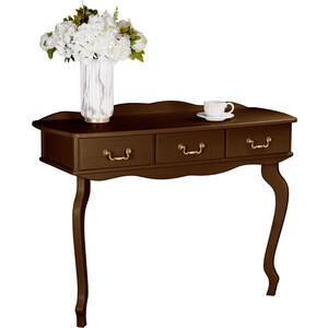 Консоль Мебелик Берже 6 темно-коричневый мебелик дуэт 6 чёрный тонированное