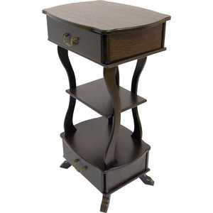 Подставка Мебелик Берже 13, темно-коричневый от ТЕХПОРТ