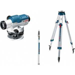 Нивелир оптический Bosch GOL 20 + штатив BT160 + рейка GR500 (0.601.068.402) штатив bosch bt 250 0601096a00