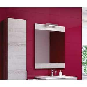 Зеркало Aqwella Бриг 60 со светильником, дуб седой (Br.02.06/Gray) зеркало шкаф aqwella бриг дуб седой