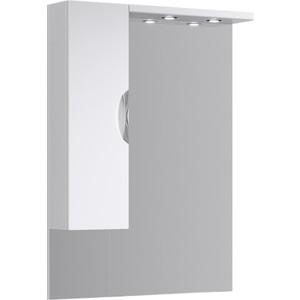 Зеркало-шкаф Aqwella ЭкоЛайн 85 с подсветкой (Eco-L.02.08) aqwella анкона 25 глянец бордо