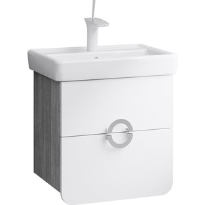 Тумба под раковину Aqwella Аликанте с ящиками дуб седой (Alic.01.05/Gray) зеркало шкаф aqwella бриг дуб седой