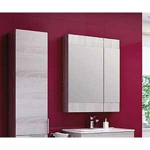 Зеркальный шкаф Aqwella Бриг В6зп цвет дуб седой (Br.04.06/Gray) aqwella бриг дуб беленый