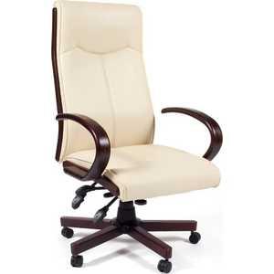 Офисное кресло Chairman CH411 бежевый офисное кресло chairman 403 кожа pu черное