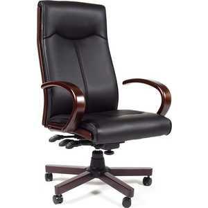 Офисное кресло Chairman CH411 черный офисное кресло chairman 659 terra черный матовый тем орех