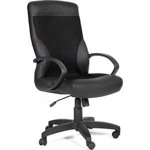 Офисное кресло Chairman 310 PU черный матовый+ TW11