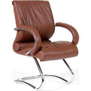 Офисный стул Chairman 445 коричневый от ТЕХПОРТ