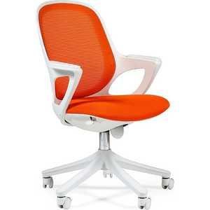 Офисное кресло Chairman 820 белый пластик SW 04-1 оранжевый