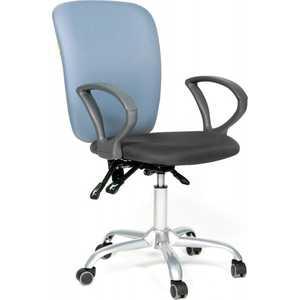 Офисное кресло Chairman 9801 сид15-13 серый/сп 15-41 голубой