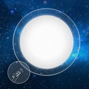 Потолочный светильник Estares Saturn 60W + прозрачный круглый кант