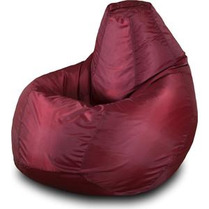 Кресло-мешок Груша Пазитифчик БМО3 бордовый мягкие кресла пазитифчик мешок груша оксфорд 130х85