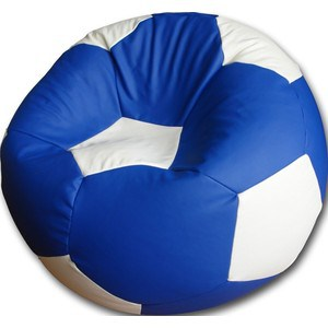 Кресло-мешок Мяч Пазитифчик БМО6 сине-белый