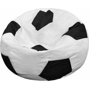 Кресло-мешок Мяч Пазитифчик Бмо6 бело-черный мягкие кресла пазитифчик мешок мяч экокожа 90х90