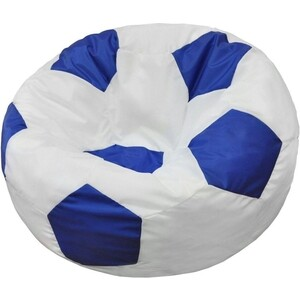 Кресло-мешок Мяч Пазитифчик БМО6 бело-синий