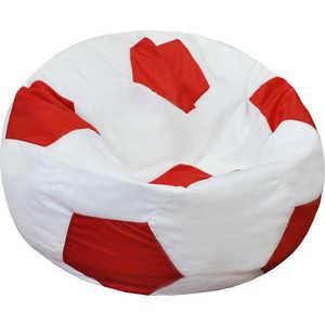 Кресло-мешок Мяч Пазитифчик Бмо8 бело-красный мягкие кресла пазитифчик мешок мяч экокожа 90х90