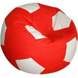 Кресло-мешок Мяч Пазитифчик БМЭ7 красно-белый