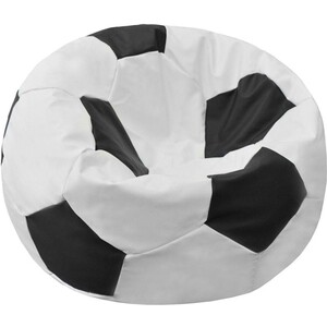 Кресло-мешок Мяч Пазитифчик Бмэ8 бело-черный мягкие кресла пазитифчик мешок мяч экокожа 90х90