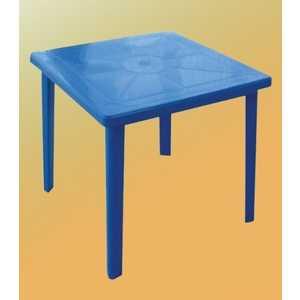 Стол платиковый СтандартПластик квадратный синий (80*80 130-0019)