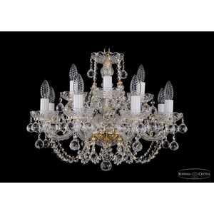 Люстра Bohemia Ivele 1406/8+4/195/G/Balls bohemia ivele crystal подвесная люстра bohemia ivele 1402 8 195 g balls tube