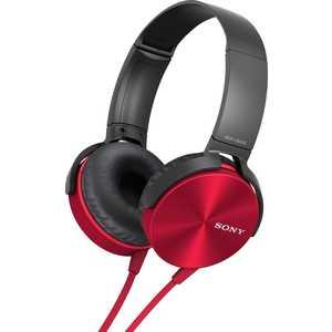 Наушники Sony MDR-XB450AP, red
