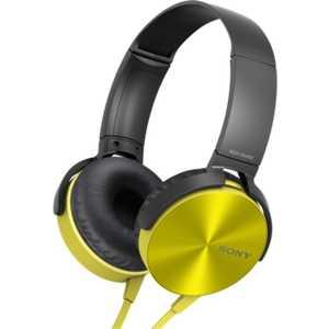 Наушники Sony MDR-XB450AP, yellow