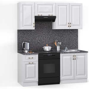 Кухонный гарнитур МегаЭлатон ''Декор'', 1600, белый /белый глянец /антрацит