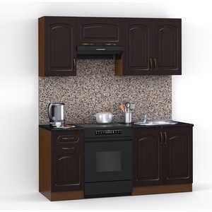 Кухонный гарнитур МегаЭлатон ''Флорида'', 1600, орех /венге темный /черный гранит