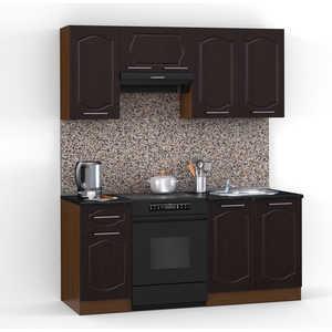 Кухонный гарнитур МегаЭлатон ''Классик'', 1600, орех /венге темный /черный гранит