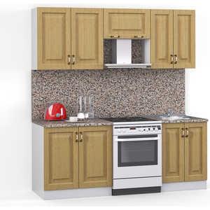 Кухонный гарнитур МегаЭлатон ''Декор'', 2000, белый /венге светлый рифленый /гранит