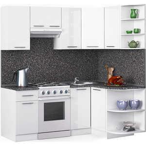 Кухонный гарнитур МегаЭлатон ''Хай-тек'', 2000 х 1300, белый /белый глянец /антрацит