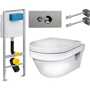 Фотография товара комплект Gustavsberg Viega с унитазом Gustavsberg Hygienic Flush WWS безободковый с сиденье микролифт (428934)