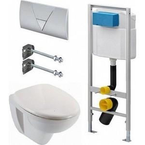 Комплект Jacob Delafon Viega Visign for Life 1 с унитазом Jacob Delafon Patio с сиденьем микролифт панель фронтальная для ванны jacob delafon patio 170х70 см