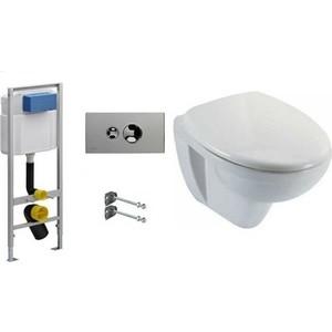Комплект Jacob Delafon Viega Visign for Style 10 с унитазом Jacob Delafon Patio с сиденьем микролифт панель фронтальная для ванны jacob delafon patio 170х70 см