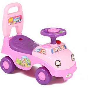 Каталка Leader Kids 3341 pink+purple (розовый+фиолет.) самокат leader kids с киской цвет розовый
