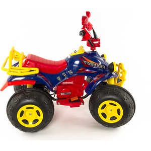 Электромобиль-квадроцикл TCV синий+желтый TCV-636