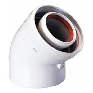 Отвод BAXI полипропиленовый 45 градусов DN 80 HT (KHG 714059311)