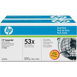 Картридж HP Q7553XD тонер картридж hp q7553x черный для hp lj p2015 p2014 m2727 7000стр