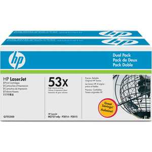 Картридж HP Q7553XD hp q7553x black картридж тонер