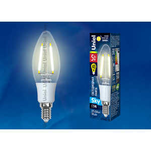 Филаментная светодиодная лампа Uniel LED-C35-5W/WW/E14/CL PLS02WH