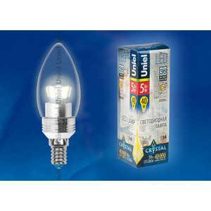 Светодиодная лампа Uniel LED-C37P-5W/WW/E14/CL ALC02SL