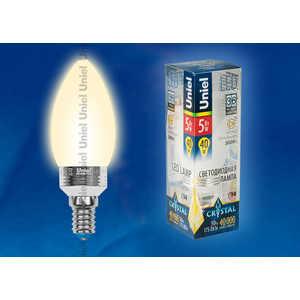 Светодиодная лампа Uniel LED-C37P-5W/WW/E14/FR ALC02SL