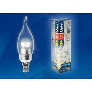 Светодиодная лампа Uniel LED-CW37P-5W/WW/E14/CL ALC02SL