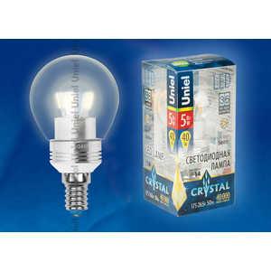 Светодиодная лампа Uniel LED-G45P-5W/WW/E14/CL ALC02SL