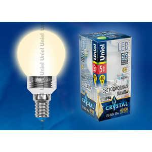 Светодиодная лампа Uniel LED-G45P-5W/WW/E14/FR ALC02SL