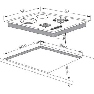Комбинированная варочная панель Hansa BHMI 61414030 от ТЕХПОРТ