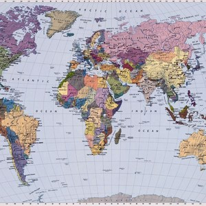Фотообои Komar Карта мира 270 х 188см. (4-050)