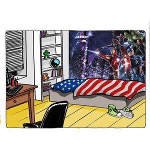 Фотообои MARVEL Avengers Citynight 254 х 184см. marvel 198g