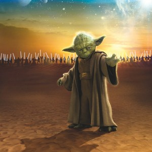 Фотообои Komar STAR WARS Master Yoda 184 х 254см. (4-442) star wars master yoda pvc action figure 12cm