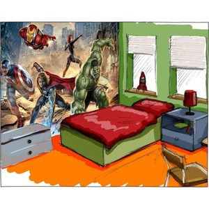 Фотообои MARVEL Avengers Street Rage 368 х 254см. marvel s the avengers encyclopediа